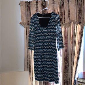 INC NEW Women's Peacock, Bell Sleeves Shift Dress